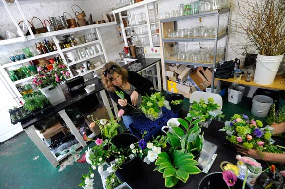 ELLEN FROST WORKS AT LOCAL COLOR FLOWERS