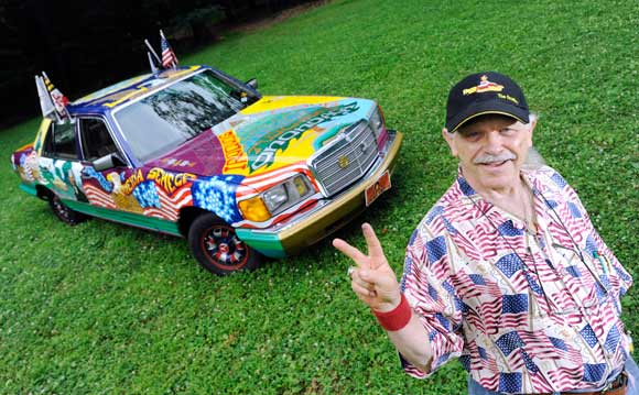 BOB HIERONUMUS AND HIS ART CAR