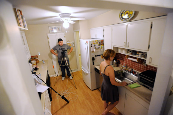 "Filmmaker Matt Barry sets up a scene for ""A Simple Misunderstanding"""