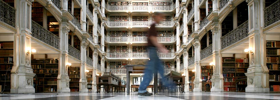 The George Peabody Library in Baltimore dates back to 1857. - Arianne Teeple