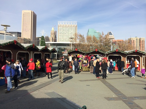 Christmas Village at the Inner Harbor