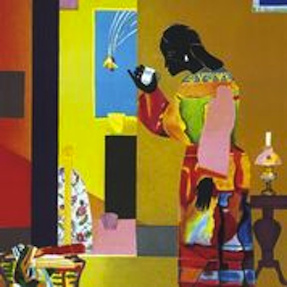Falling Star, 1979, Romare Bearden – Courtesy of The Kinsey Collection